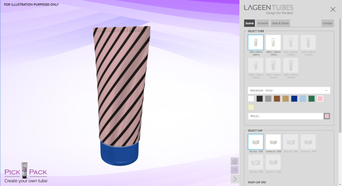New Pick a Pack online design tool – Get a 360° view of your product in 3D